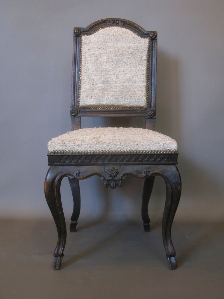French Louis Xv Carved Side Chair For Sale At 1stdibs