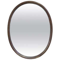 Oval Mirror in a Copper Frame - France, 19th Century
