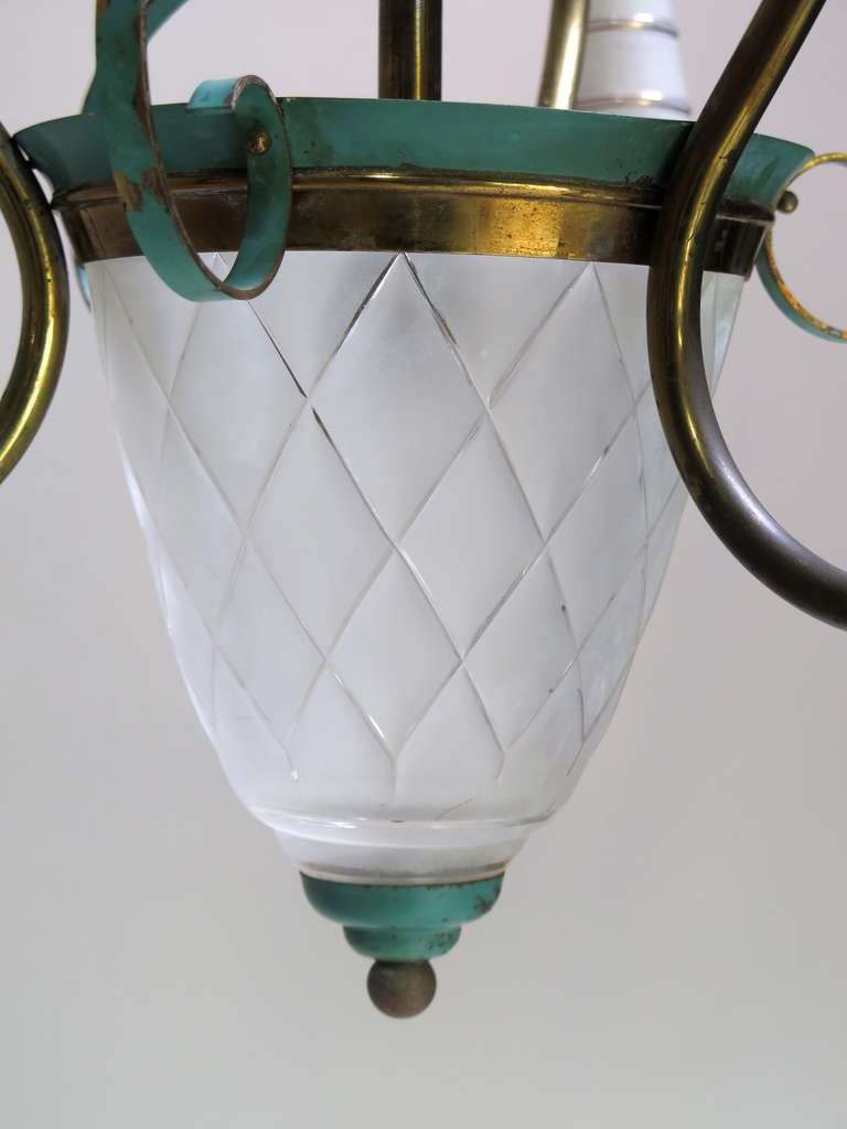 Mid-20th Century Elegant French Chandelier, 1940s For Sale