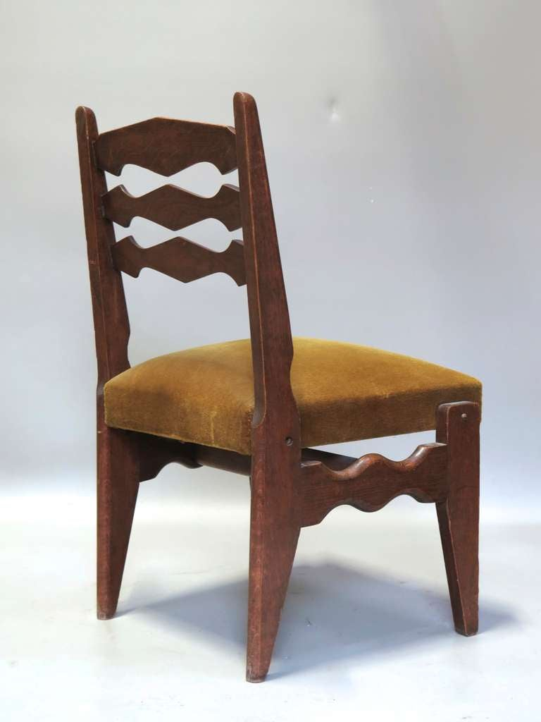 Quirky set of six dining chairs by guillerme et chambron