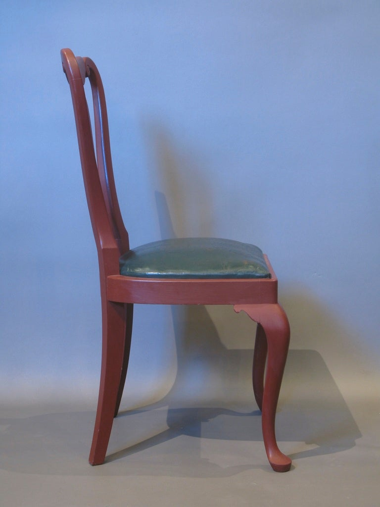 Set of 6 Queen Anne Style Chairs In Excellent Condition For Sale In Isle Sur La Sorgue, Vaucluse