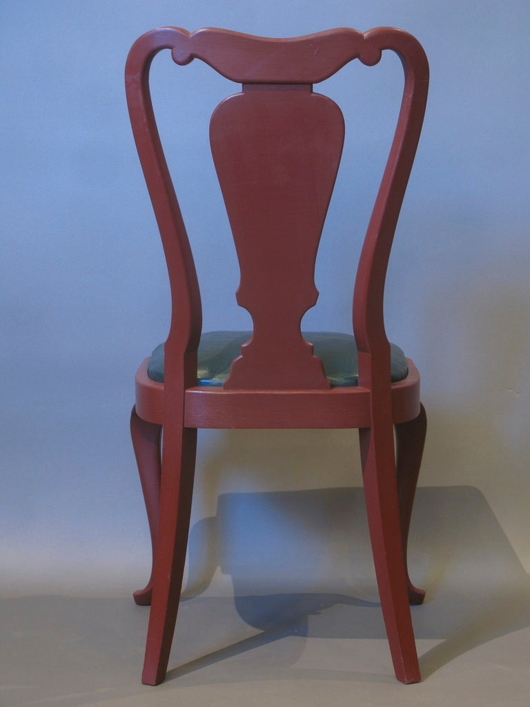 20th Century Set of 6 Queen Anne Style Chairs For Sale