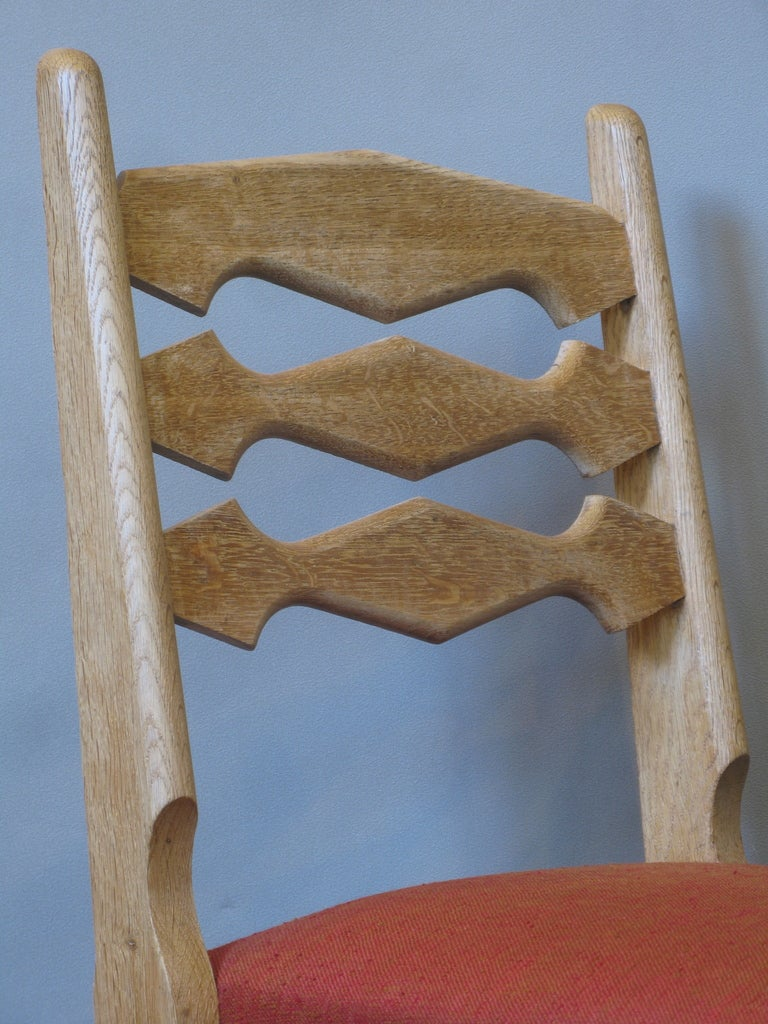 Set of 4 Mid-Century Dining Chairs by Guillerme et Chambron In Excellent Condition For Sale In Isle Sur La Sorgue, Vaucluse