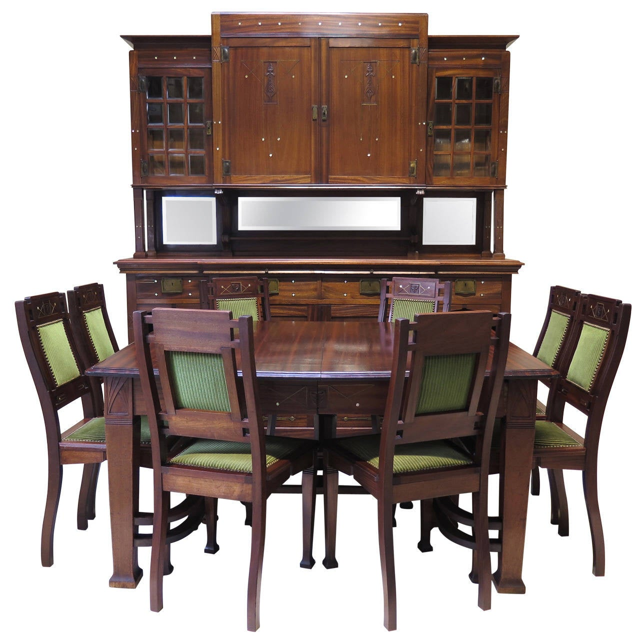 arts and crafts dining room set early 1900s at 1stdibs. Black Bedroom Furniture Sets. Home Design Ideas