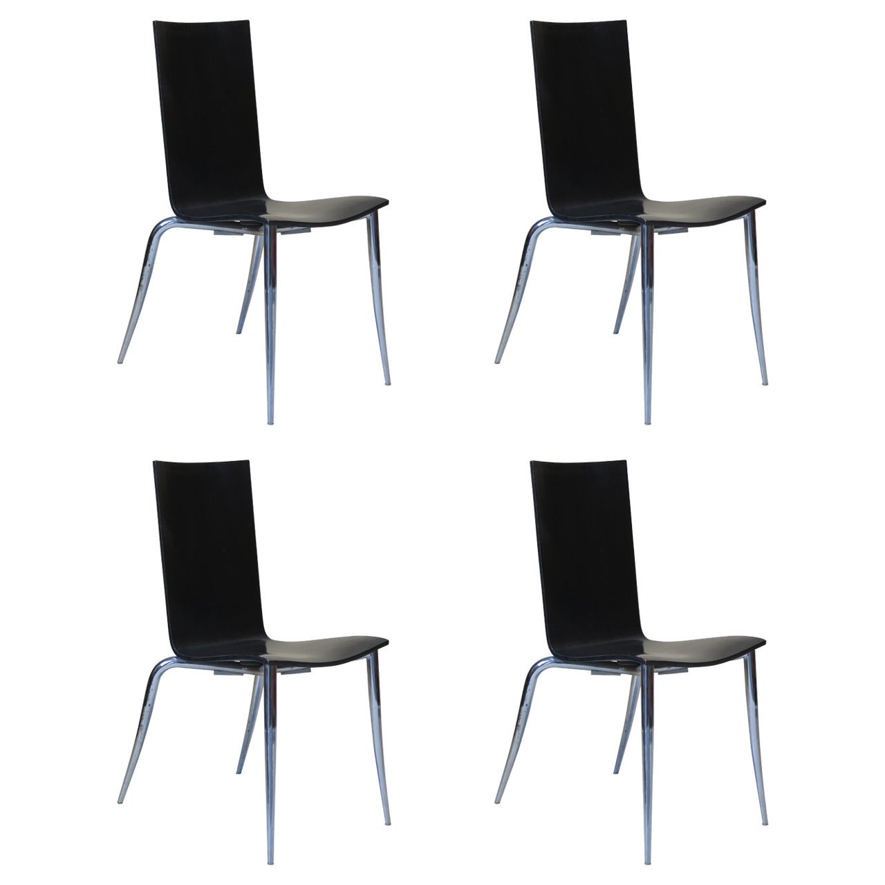 Set of Four Philippe Starck Chairs, France, 1990s