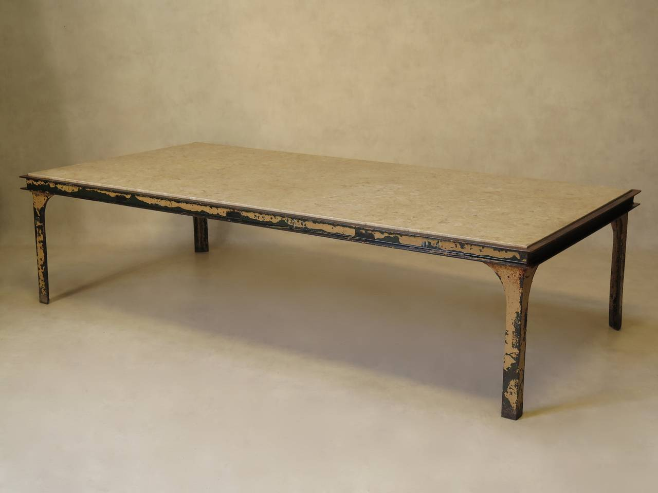 Great Large Iron And Stone Coffee Table France S For Sale At Stdibs With Stone  Coffee Table.