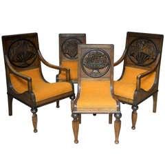 Four-Piece Art Deco Seating Set, France, circa 1930s