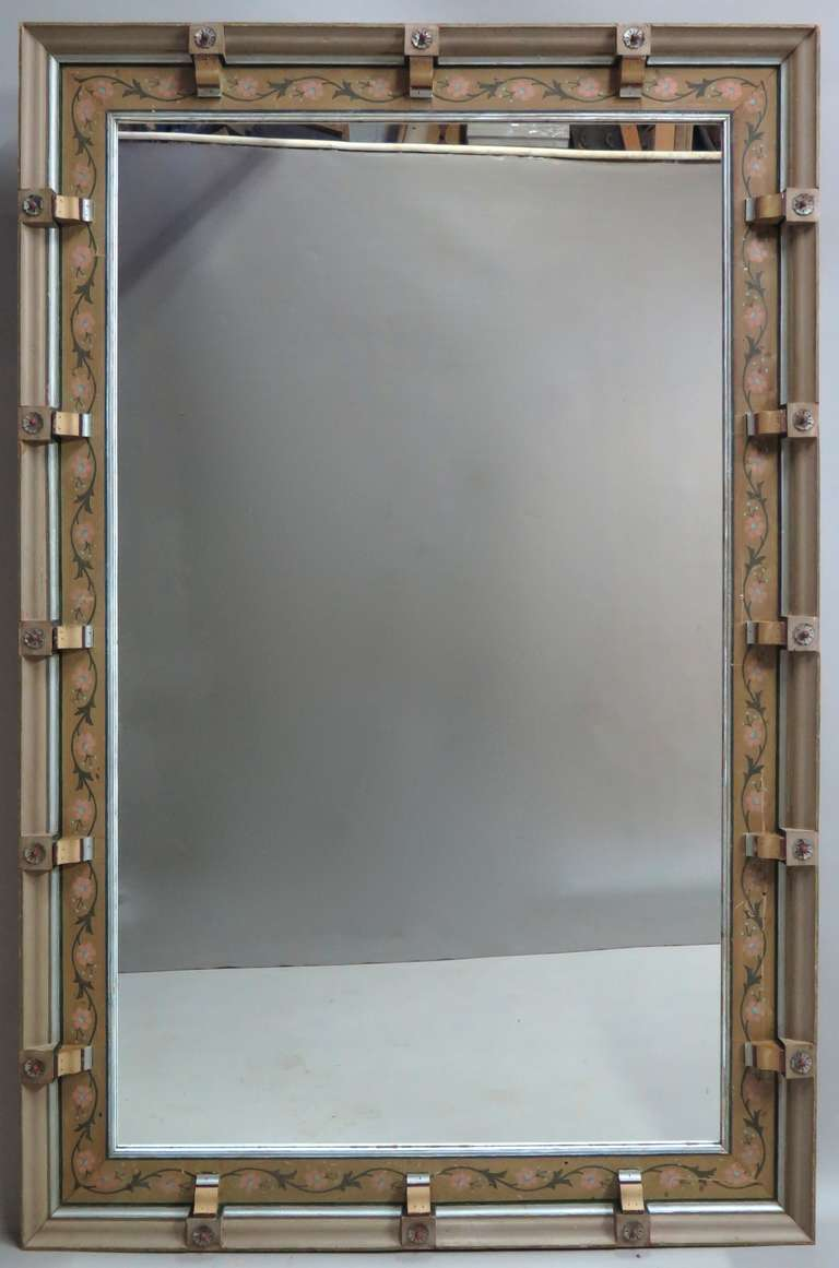 Very Large Mirror W Decorated Frame Italy Ca 1900s 2