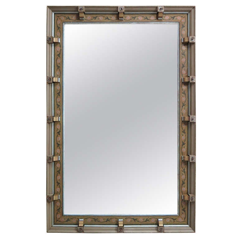 Very Large Mirror W. Decorated Frame - Italy, Ca. 1900s (2 Available)