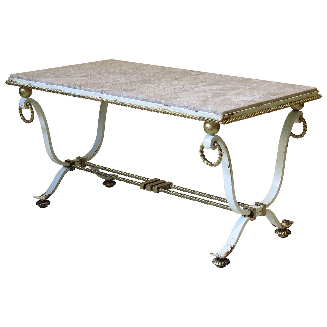 Art Deco Coffee Table Attributed to Poillerat, France, 1940s