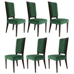 6 Empire Style Dining Chairs - France, 19th century