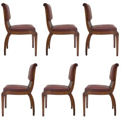 Six Art Deco Chairs - France, ca. 1930s