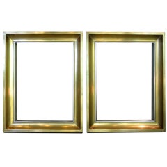 Pair of Brass and Chrome Frames