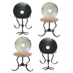 Set of Four Folk Art Chairs