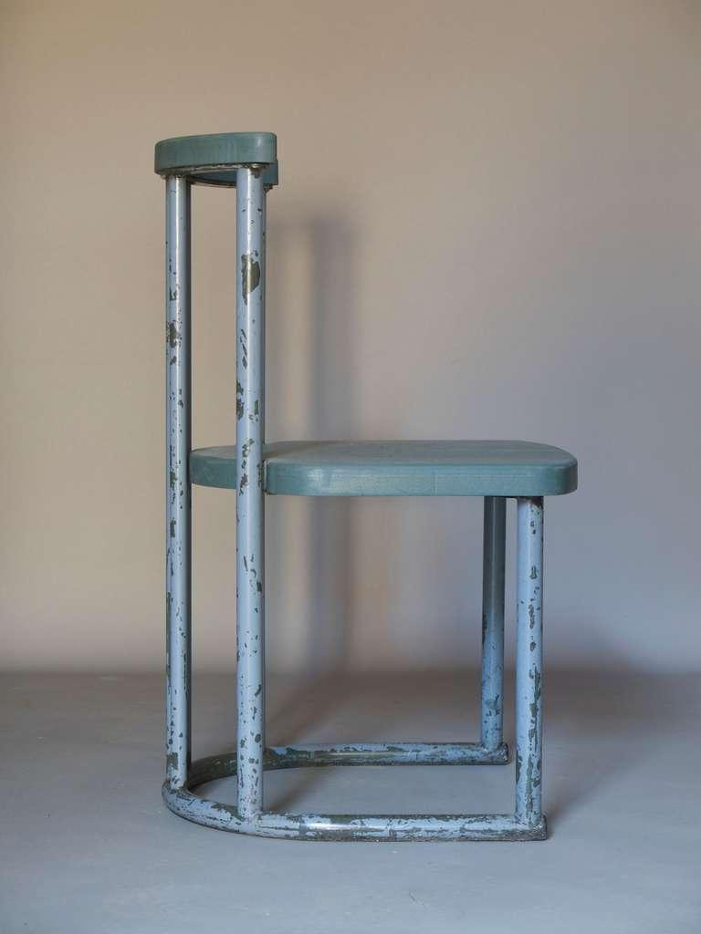 Set Of 5 Tubular Metal Chairs France Ca 1960s At 1stdibs