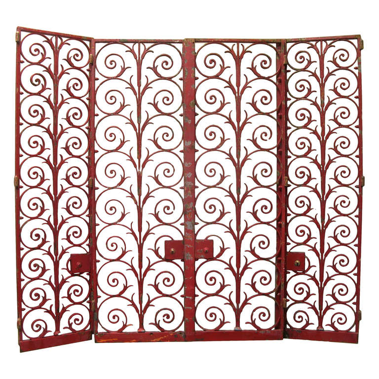 French Art Deco Wrought Iron Grilles