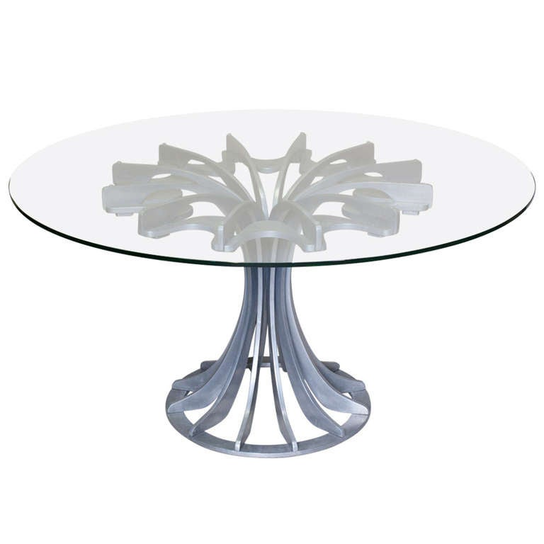 Round and Glass Table