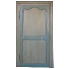 Small French 19th Century Oak Recessed Door