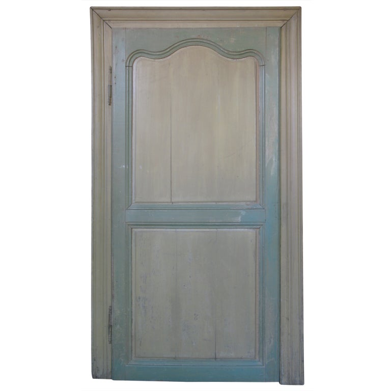 Small french 19th century oak recessed door for sale at for Double doors for sale