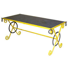 Wonderful French, 1950s Wrought Iron Table