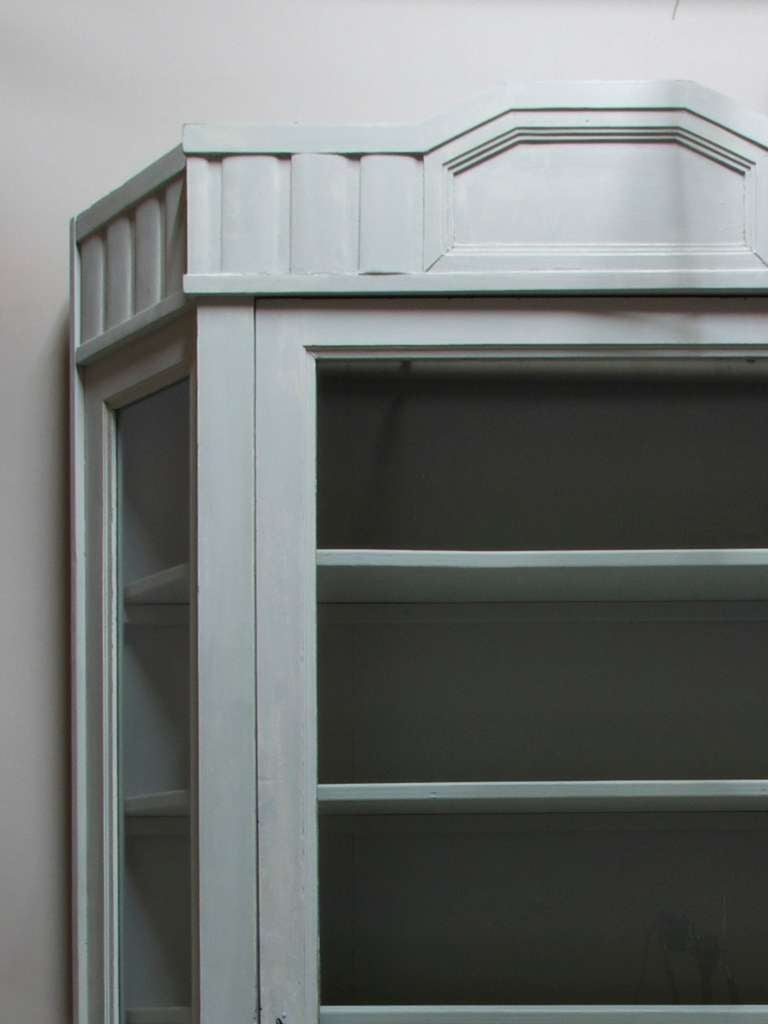 French Painted Vitrine with Canted Corners, France, circa 1920s For Sale