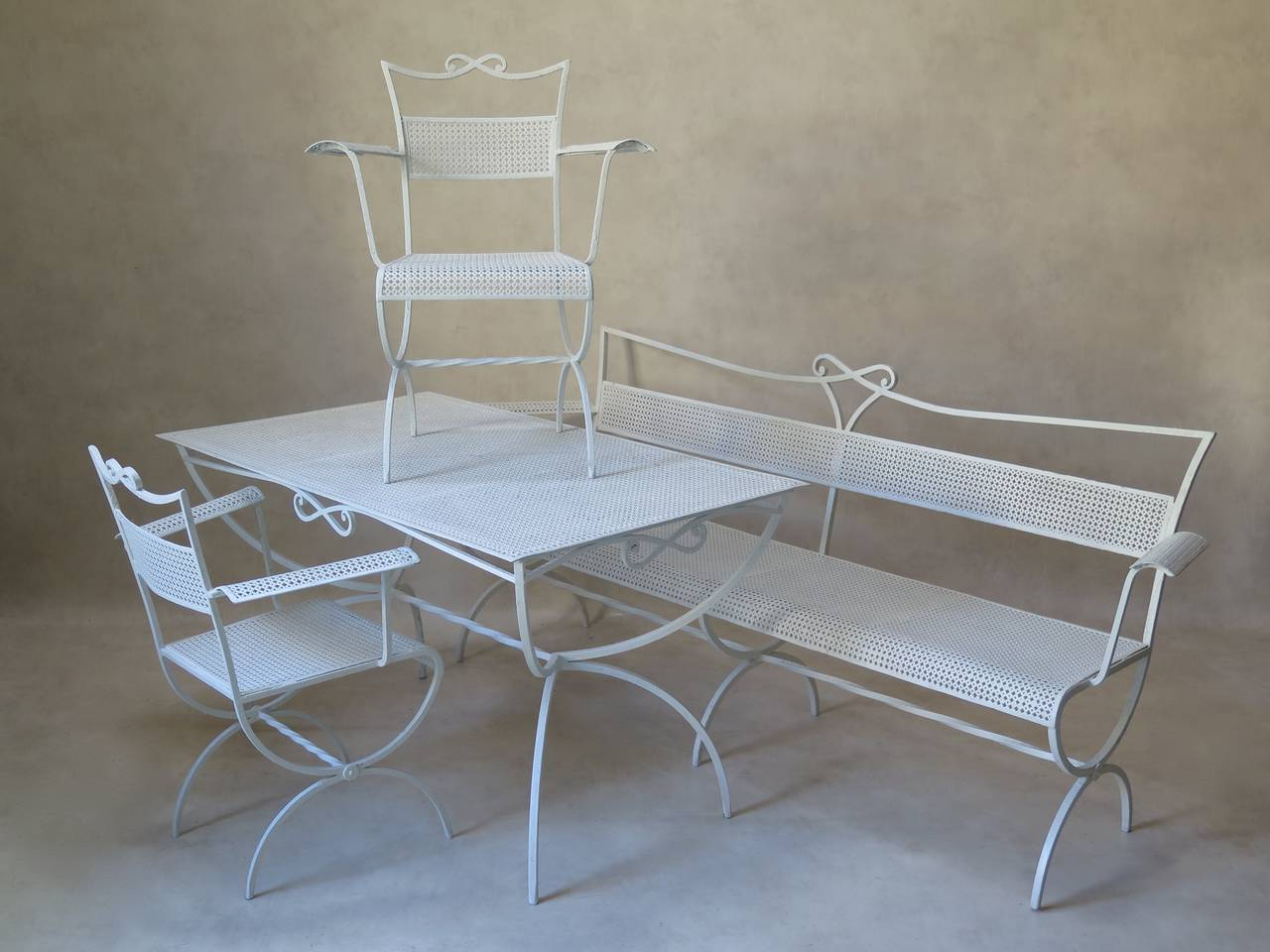 Outdoor Dining Table by Maison Jansen, France, 1950s 1