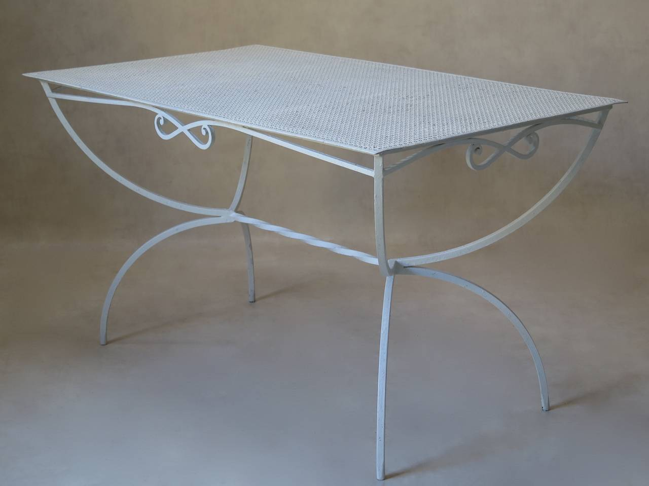 Outdoor Dining Table by Maison Jansen, France, 1950s In Excellent Condition In Isle Sur La Sorgue, Vaucluse