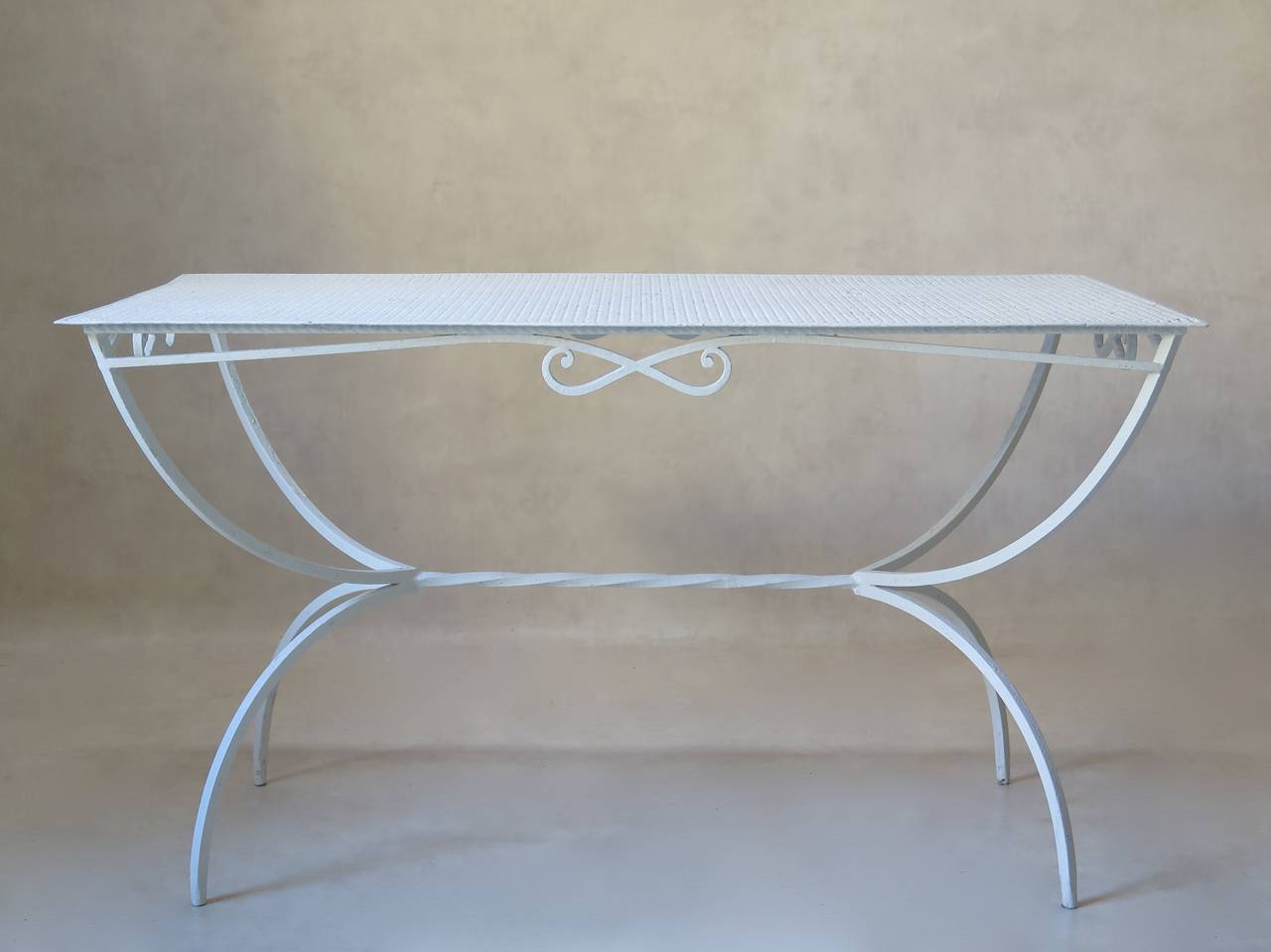 French Outdoor Dining Table by Maison Jansen, France, 1950s