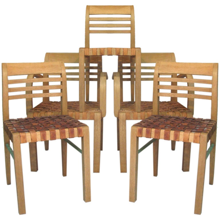2 Chairs & 2 Armchairs by René Gabriel - France, 1930s