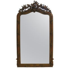 Tall French Gilt Over Mantle Mirror