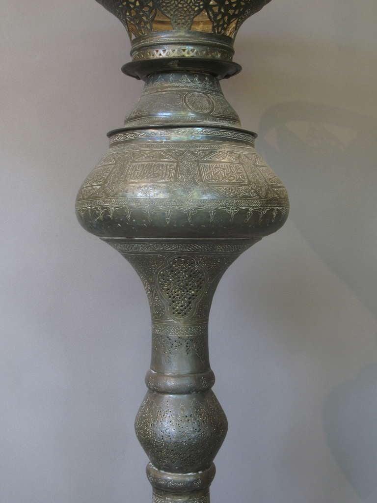 antique oriental brass floor lamp 2