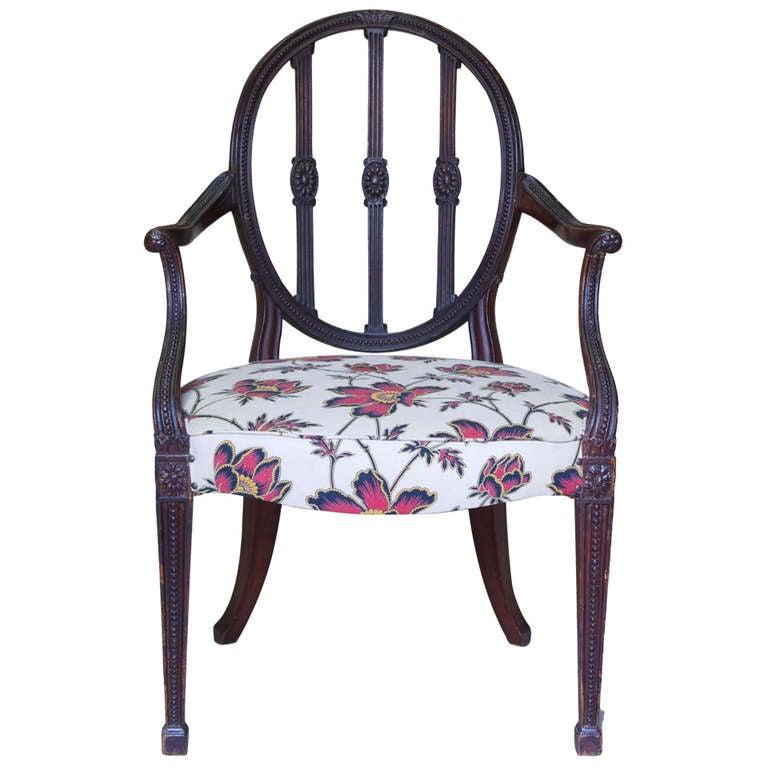 Hepplewhite Armchair, England, Circa 1790