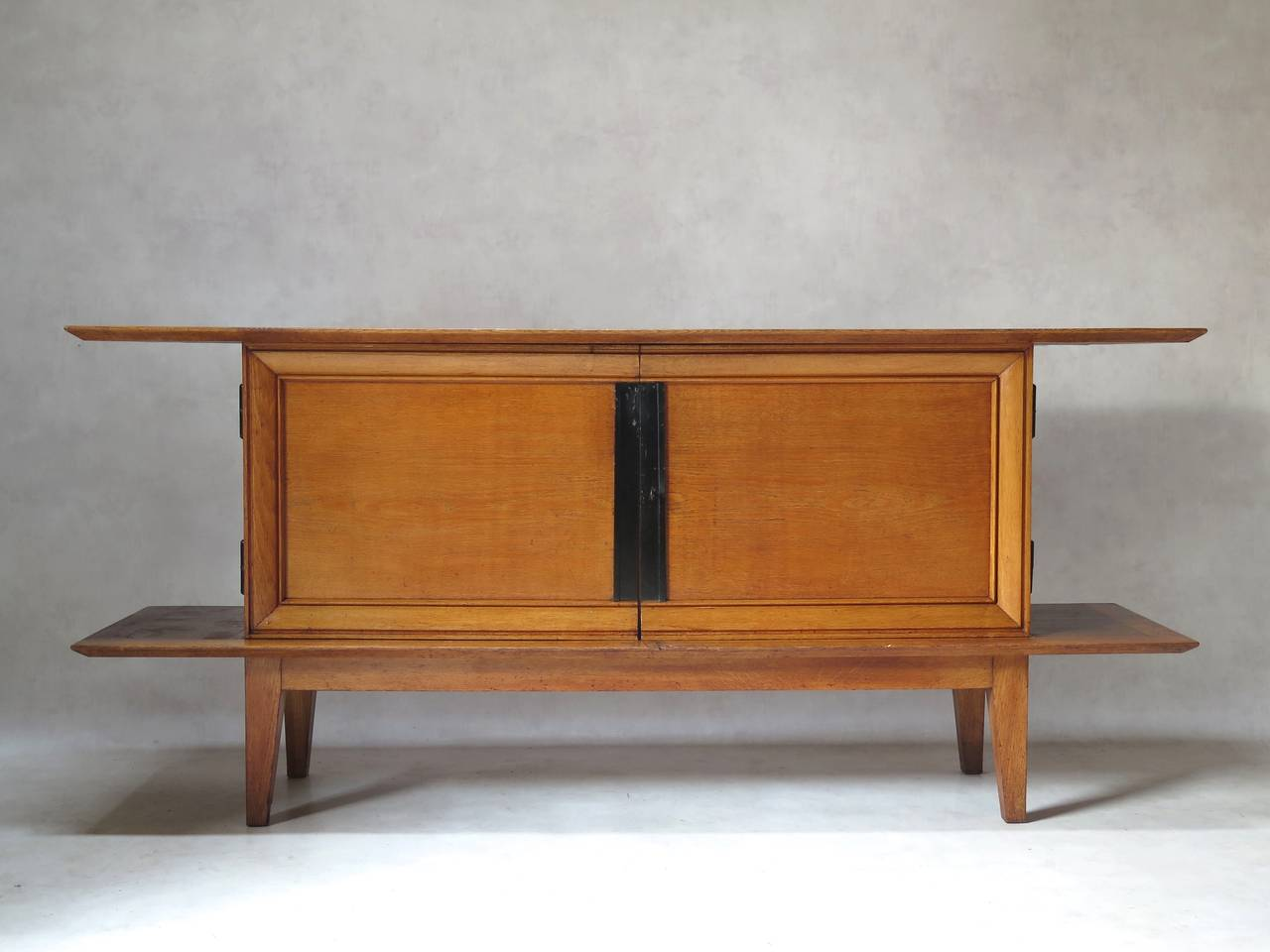 Japanese-Inspired Oak Credenza and Dining Table by Colette Gueden, France,  1950s 3