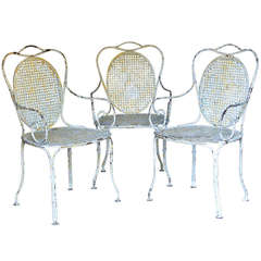 Three Wrought-Iron Armchairs - France, Circa 1880