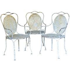 Three Wrought-Iron Armchairs - France, Circa 1880