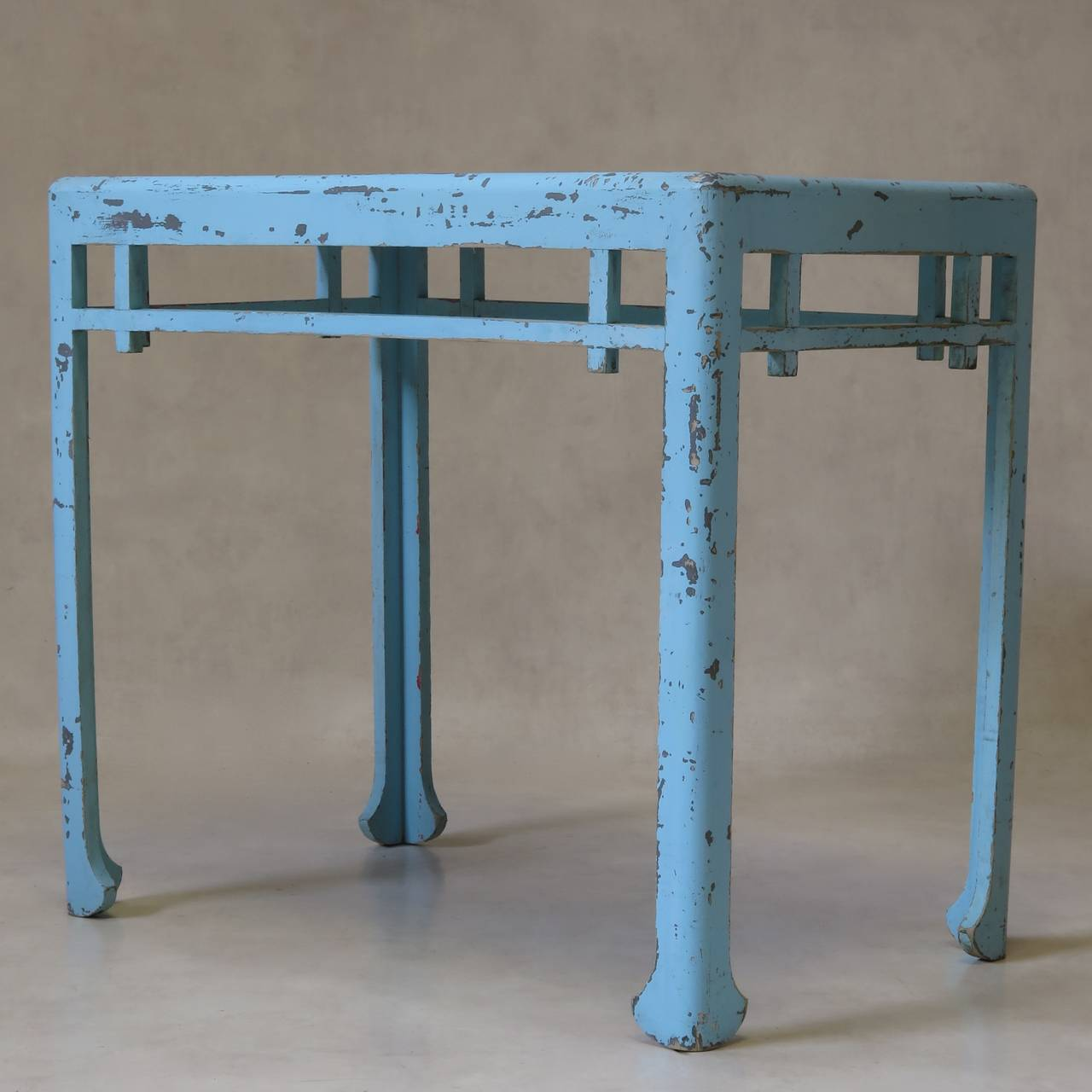 french 1920s chinese style table and stool attributed to atelier martine at 1stdibs. Black Bedroom Furniture Sets. Home Design Ideas