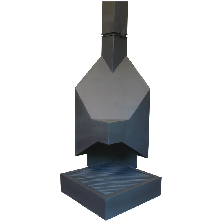 Mid Century Cubist Fireplace For Sale At 1stdibs