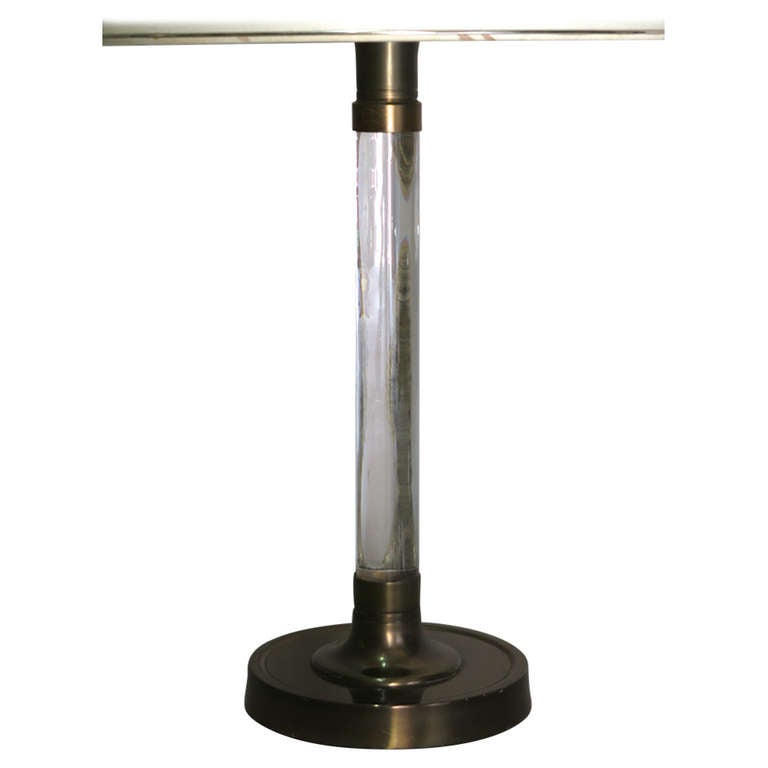 Brass and Plexiglas Table Lamp - France circa 1940s