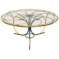 One-Of-A-Kind Large Flower Form Wrought Iron Table - France, Circa 1950