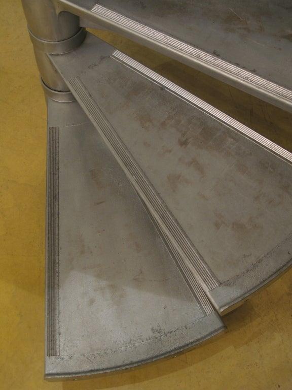 Aluminum Large Aluminium Spiral Staircase, France, 1950s