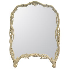 """Carved """"Twig"""" Mirror"""