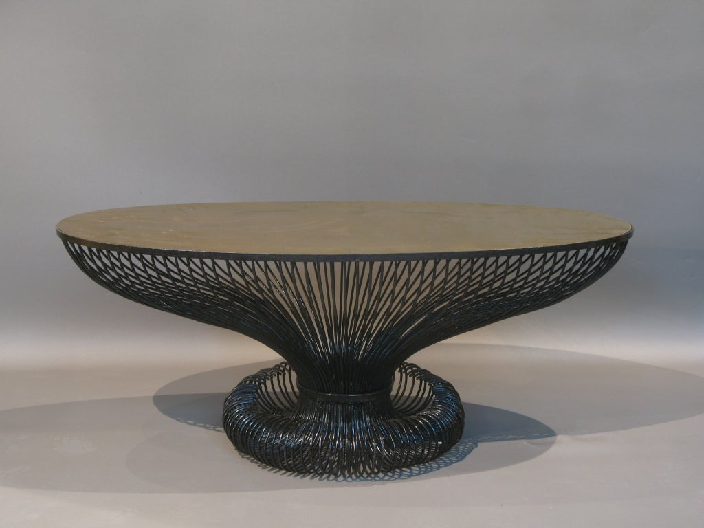 Unique oval coffee table at 1stdibs for Unusual coffee tables