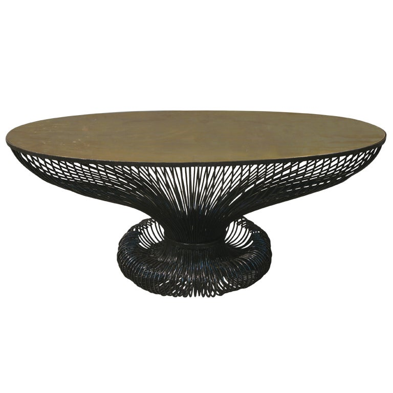 Unique oval coffee table at 1stdibs Oval shaped coffee table