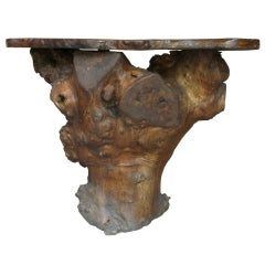 Burl Root Slab Side Table