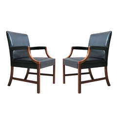 Pair of Armchairs by Ole Wanscher - Denmark, 1940s