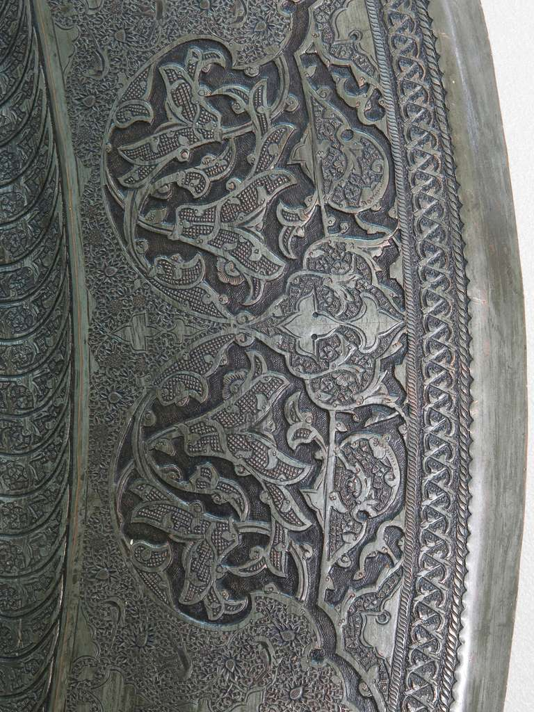 Large Middle Eastern Tray, 19th Century For Sale 1