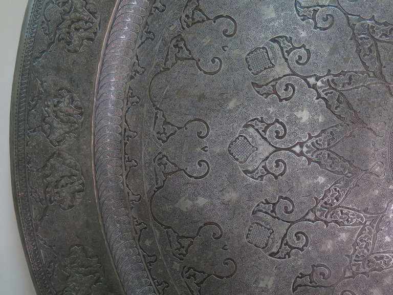Unknown Large Middle Eastern Tray, 19th Century For Sale