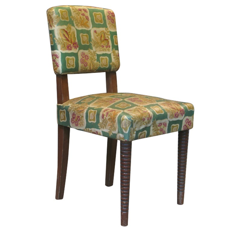 Set of 6 Fun French 1950s' Dining Chairs