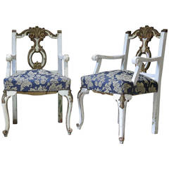 Pair of Louis XV Style Armchairs, France, Early 1900s