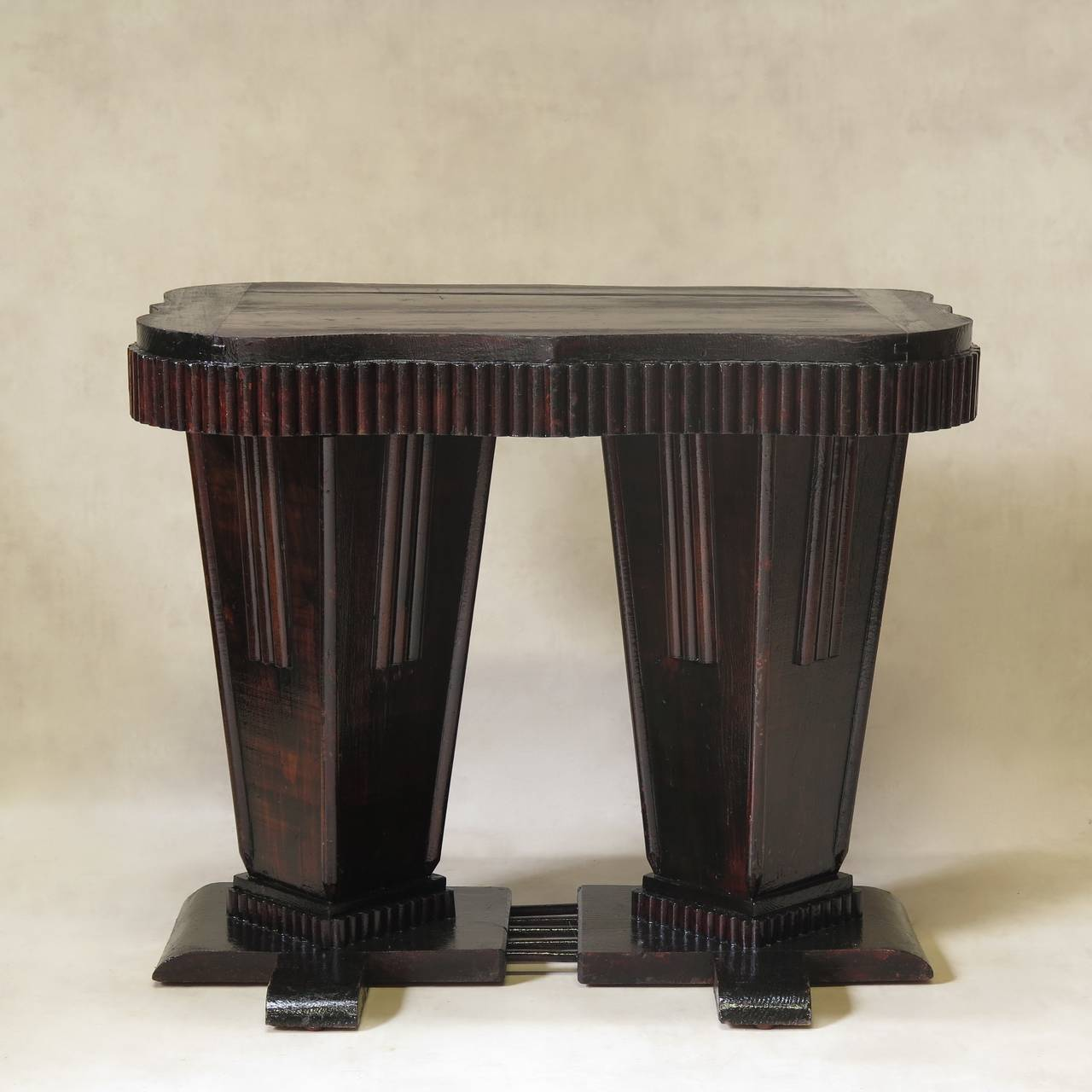 Unusual Art Deco Table and Chair Set, France, 1930s 8